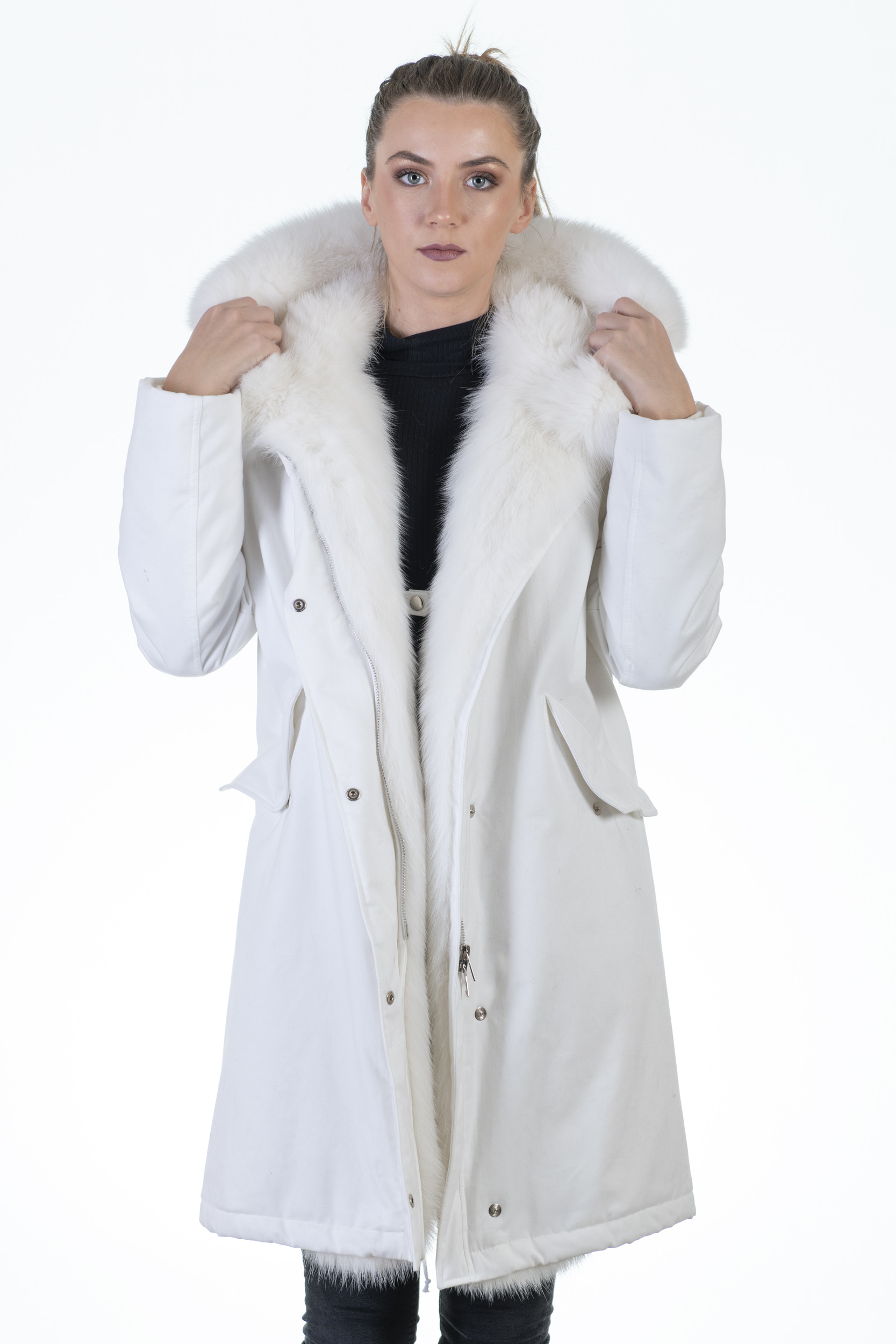 Parka Army Volpe White