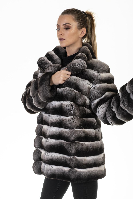 giacca pelliccia cincilla