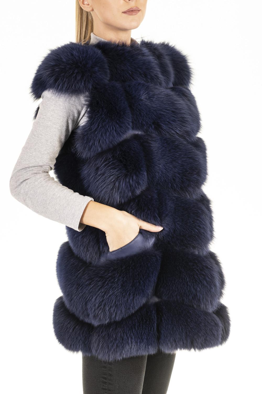 Gilet Volpe Blu Elettrico