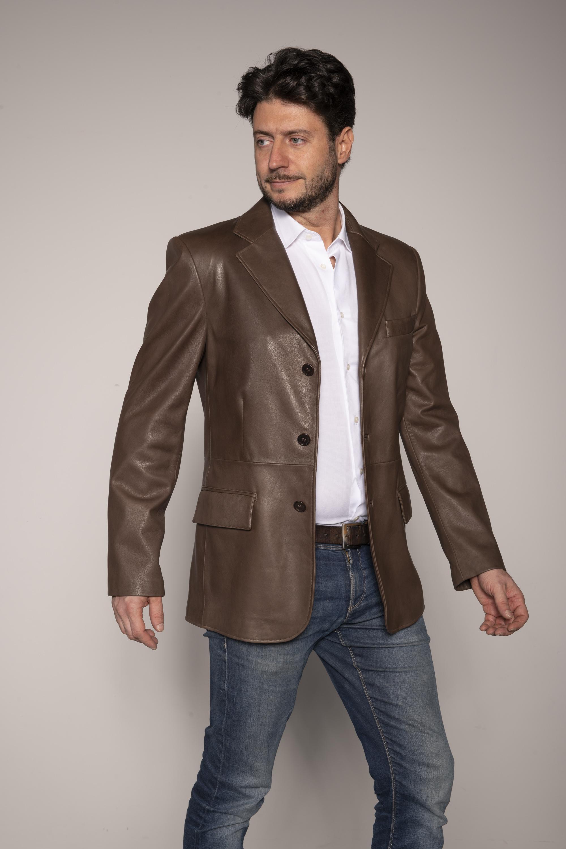 giacca pelle uomo